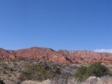 A panoramic shot taken in the Red Cliffs National Recreation Area.