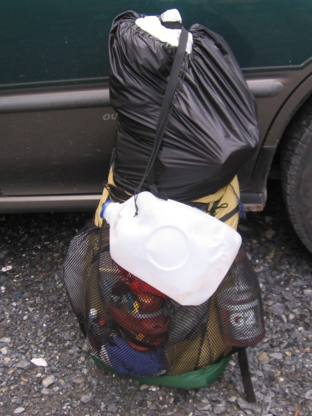 The Ray Way Backpack hauling out a load of heavy trash during one of my seasons as an Appalachian Trail ridge runner.