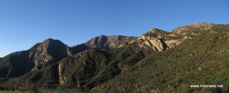 Panoramic view  of Mission Canyon from the Edison service road.