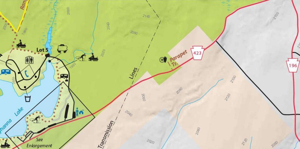 Parapet Trail Map