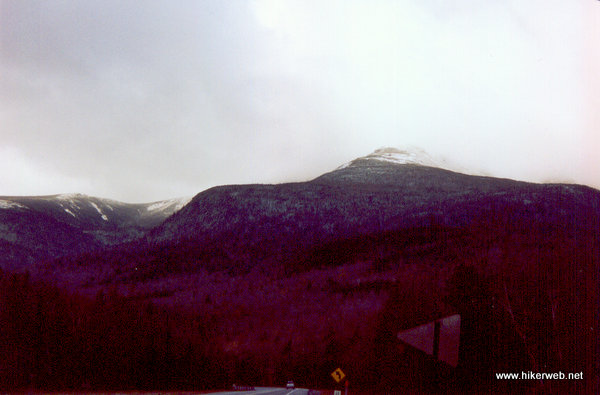 View of the Presidential Range from the south on Route 16.