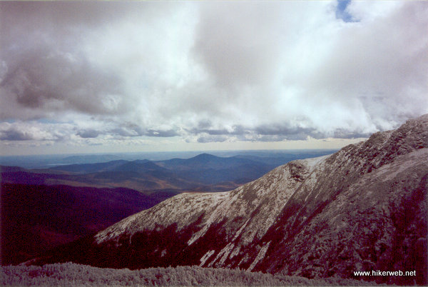 Looking southeast from above Tuckerman Ravine.