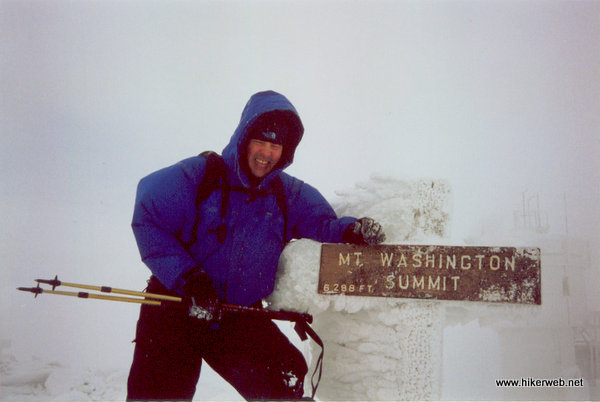 Bill at the Mt. Washington summit sign.