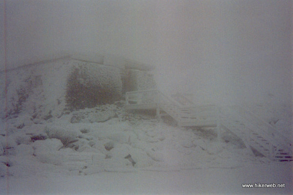 The Tip Top House on the summit of Mt. Washington.
